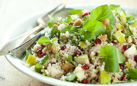 Quinoa with Watercress and Pears