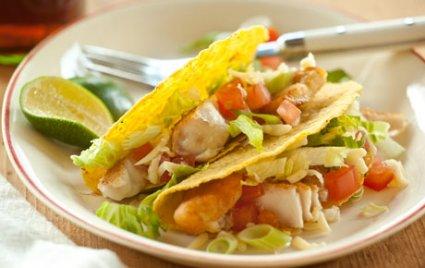 Fish Tacos in Crunchy Shells