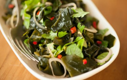 Seaweed Salad With Fresh Herbs and Chile