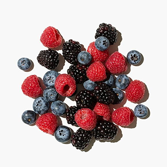 Image of berries on white background