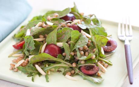 Cherry Arugula Salad with Almonds and Tarragon