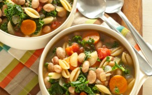 Pasta and Bean Soup with Kale