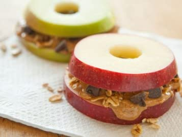 Apple Sandwiches with peanut butter recipe