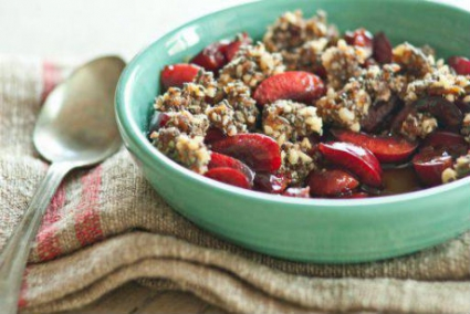 Raw Cherry Crisp with Chia and Dates