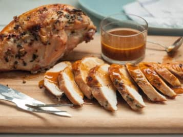 Roast Turkey Breast with Apple Cider Gravy