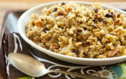 Brown Rice and Mung Bean Pilaf