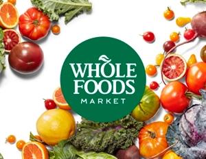 Whole Foods Market Logo among produce