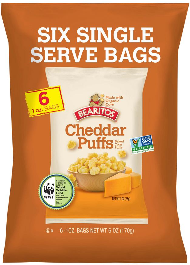Bearitos Snack-Size Cheddar Puffs