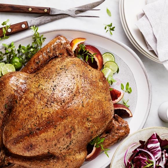 Thanksgiving turkey on a platter