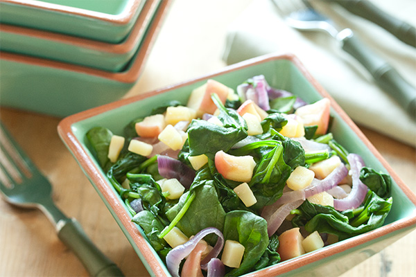 Photo of Warm Spinach Salad with Apple and Robusto Cheese