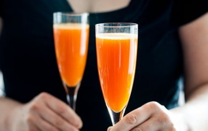 Cardamom Carrot Sparkling Cocktails Recipe