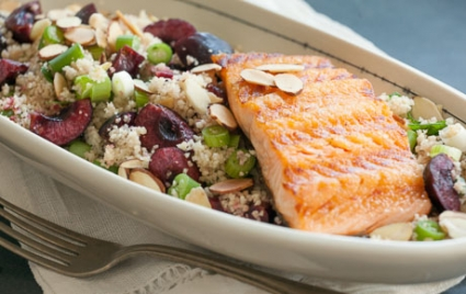 Grilled Salmon with Cherry Couscous