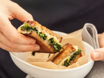 Grilled Cheese and Greens