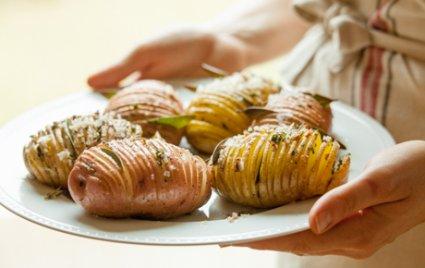 Herbed Accordion potatoes