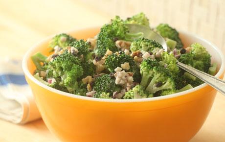 Broccoli Salad with Walnuts and Currants