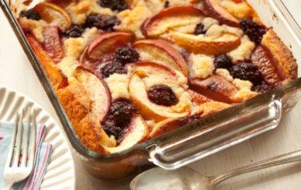 Blackberry and Peach Buttermilk Cobbler