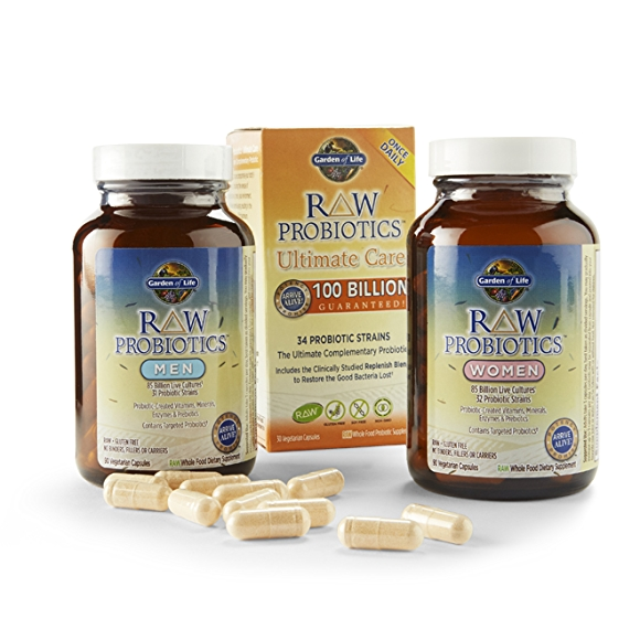 Garden of Life, raw probiotics women and men's vitamins
