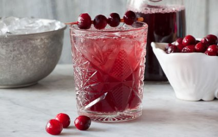 sherried cranberry smash cocktail recipe