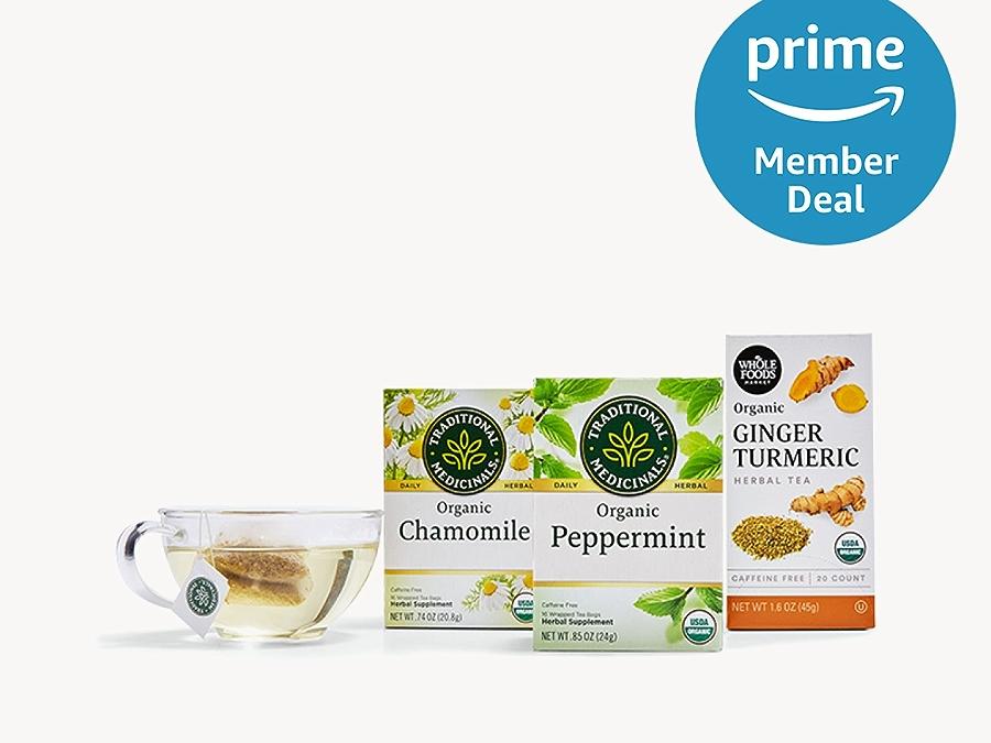 Tea with prime member deal logo in the upper right corner