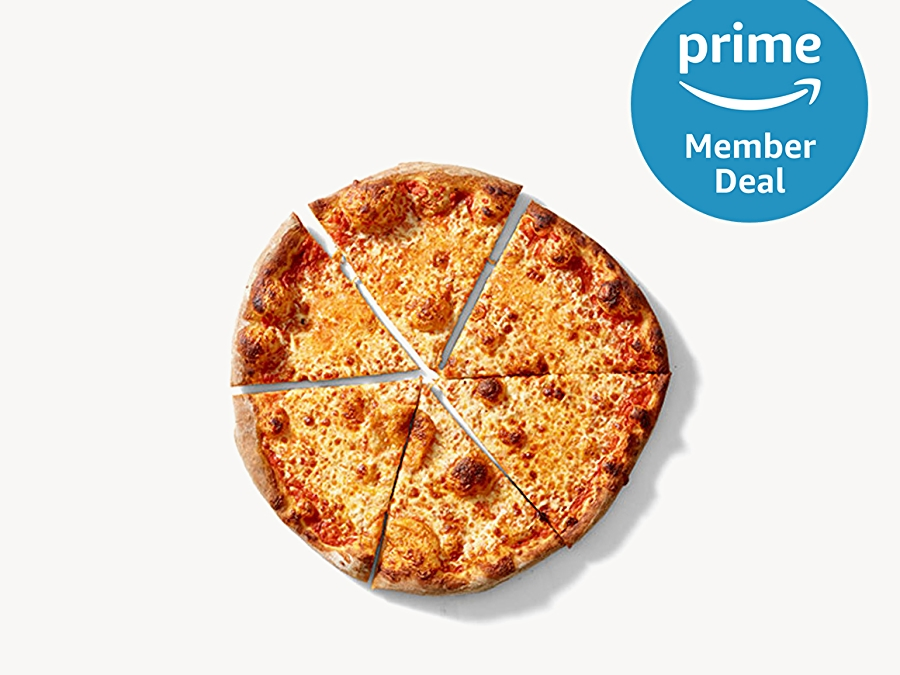 Pizza with Prime member deal logo in top right
