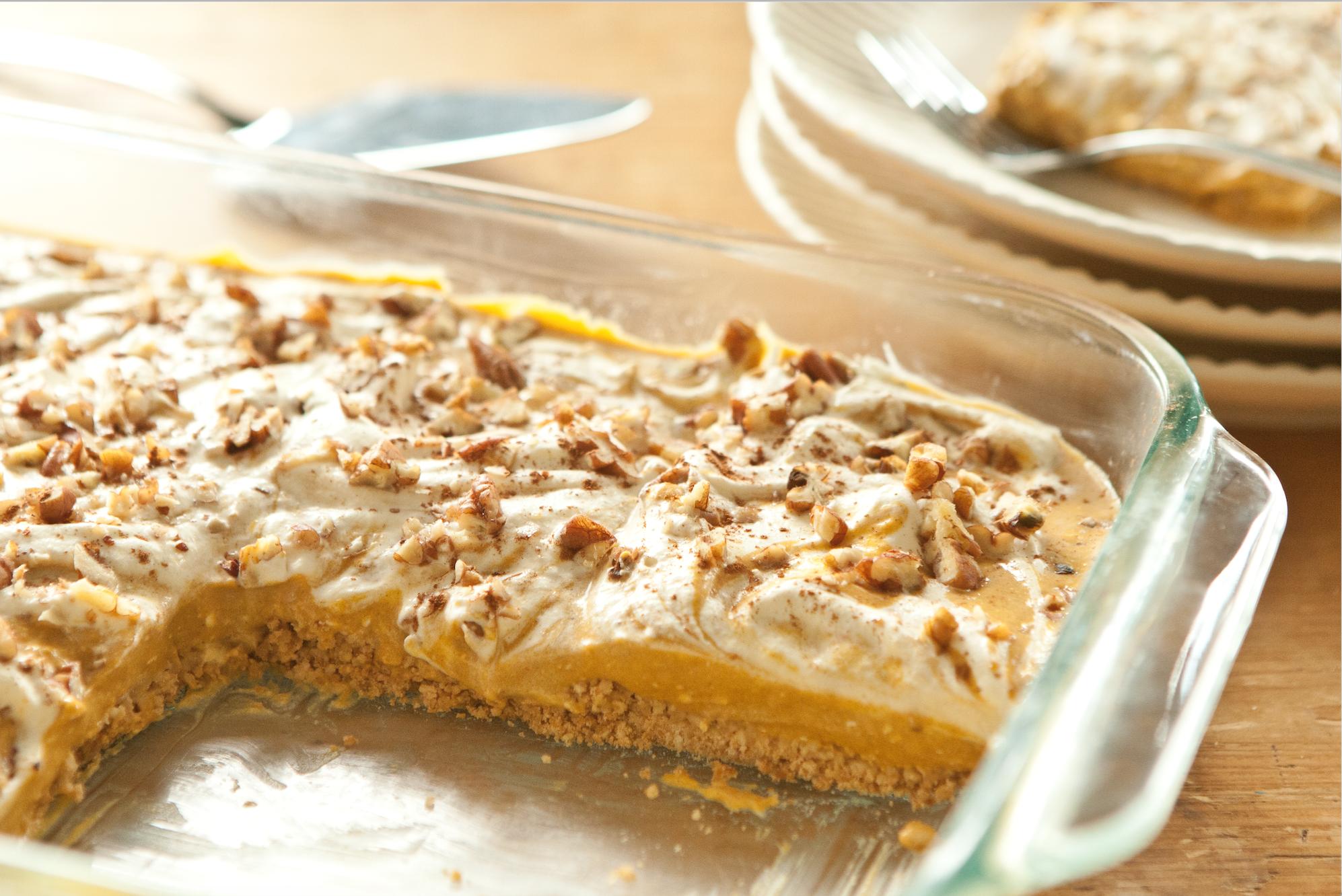 Pumpkin Pie Cheesecake with Pretzel Crust Recipe