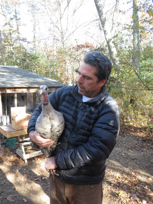 Kevin with turkey