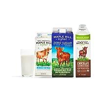 Product image of Grassfed Organic Whole, 2%, Chocolate or Zero Sugar Milk