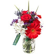 Product image of Whole Trade Red, White and Blue Mason Jar Bouquet