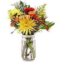 Product image of Medium Fall Mason Jar Bouquet