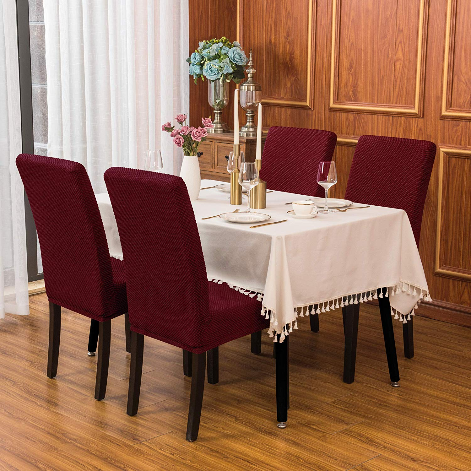Top Rated In Dining Chair Slipcovers Helpful Customer Reviews Amazon Com