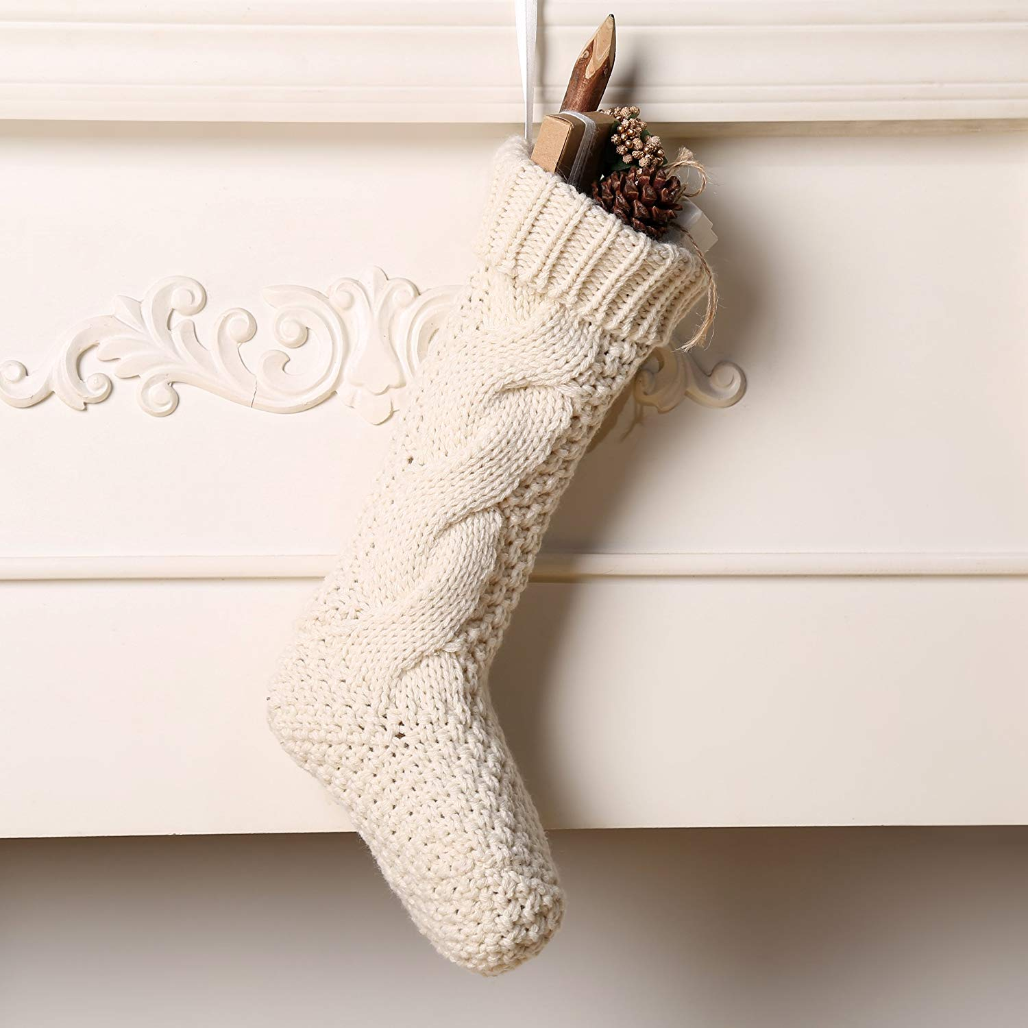 Liven Up Your Fireplace Mantle With These Decorative Stockings