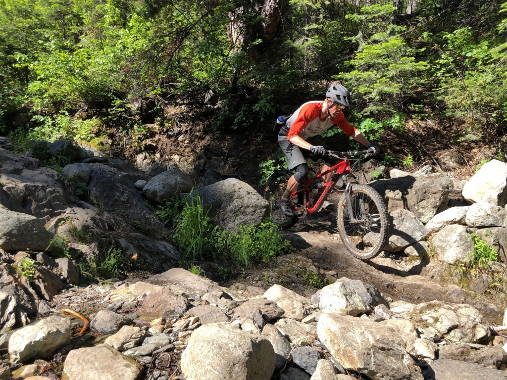 Head tester Jeremy Benson testing the Session on the trails in...