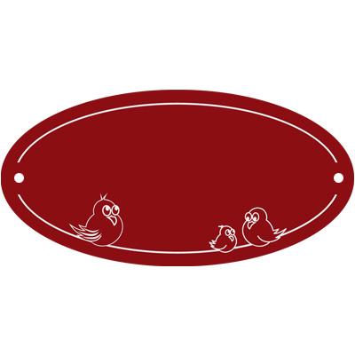 T/ürschild rustikal rot 14 x 5,3 cm Namensschild Klingelschild Aluminium mit Text Gravur jetzt selbst gestalten