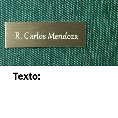 Agenda Pierre Cardin PERSONALIZADA con placa con el texto que quieras (Camel)