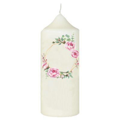 Wandtattoo-Loft Taufkerze Kerze zur Taufe oder Kommunion Blumenkranz Taufspruch mit Wunschname /& Datum // mit Taufspruch wie abgebildet