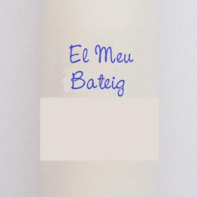 FIESTADEKOR Vela para Bautizo DE Cera Blanca. Medida 3 x 40CM Decorada con Lazo, Chupete Y CIGÜEÑA Adhesiva (Azul Personalizada)
