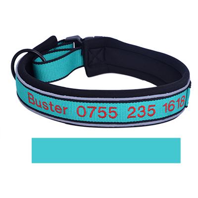 YouFia Hundehalsband Halsb/änder mit Name Telefonnummer Bestickt Personalisierte Haustier Halsband