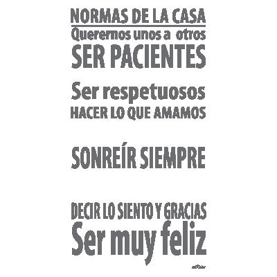 Enkolor/Vinilos decorativos frases/Normas de la casa/Personalizado/Colores/60X110cm: Amazon.es: Bricolaje y herramientas