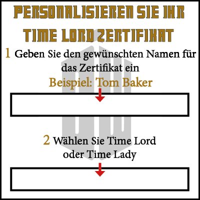 Amazon.de: planetsforsale Doctor Who Time Lord Zertifikat in Einer ...