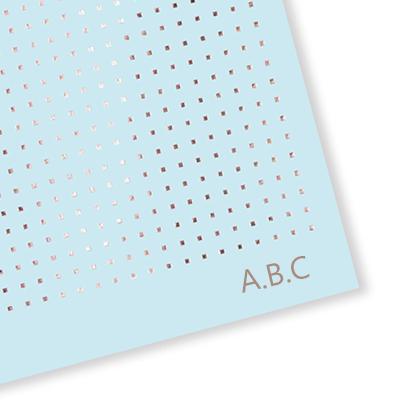 Matilda Myres 2019-20 - Agenda semanal (tamaño A5), color oro rosa, color Blue with Initials A5