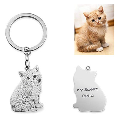 Top WHY Personalizado personalizado mascota llavero plata ...