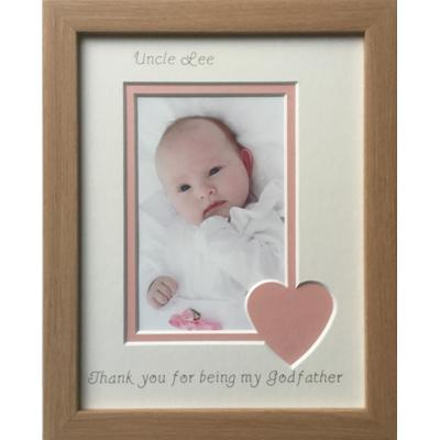 Thank you Godparents, Godmother, Godfather Photo Frames Beech 9 x 7 ...
