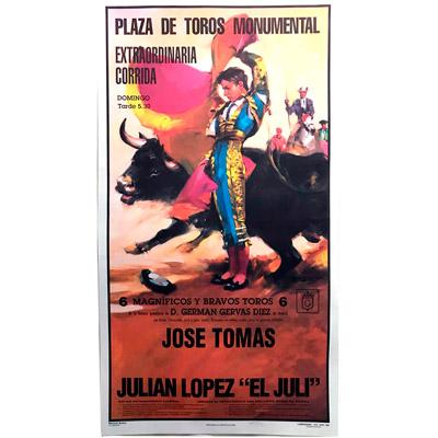 Cartel de toros con un nombre personalizable - J. Tomás/El Juli