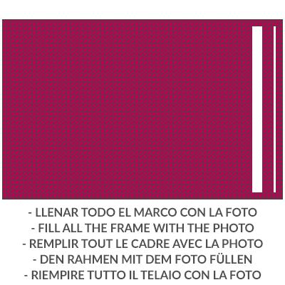 LolaPix Cartera Tejana Personalizada con tu Foto/Diseño/Texto. Regalo Original y Exclusivo. Tejido en Cartera Tejana Tela Azul.