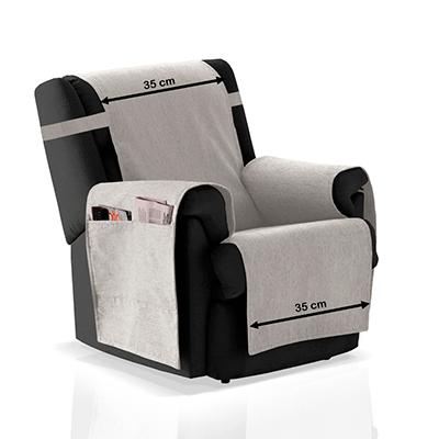 JM Textil Cubre sillón Larissa Personalizable de 30 a 110cm ...
