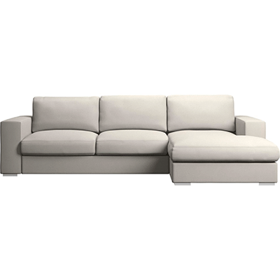 JM Textil Cubre Sofa Chaise Longue Larissa Personalizable, Brazo Derecho Color Marfil