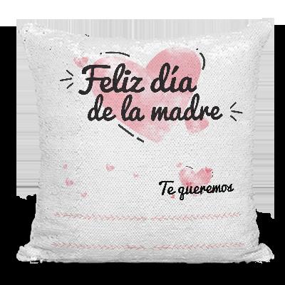 AR Regalos Cojín día de la Madre Personalizado de Lentejuelas