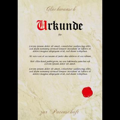Patenschaft Urkunde Personalisiert Geschenk Karte Taufe Kind Patentante Patenonkel Taufpaten