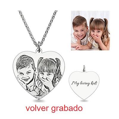 407a467b6b99 JF Colgante de Corazón Personalizado ACK Collar de Plata esterlina ...