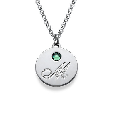 Amazon initial pendant necklace with birthstones custom made error message aloadofball Image collections